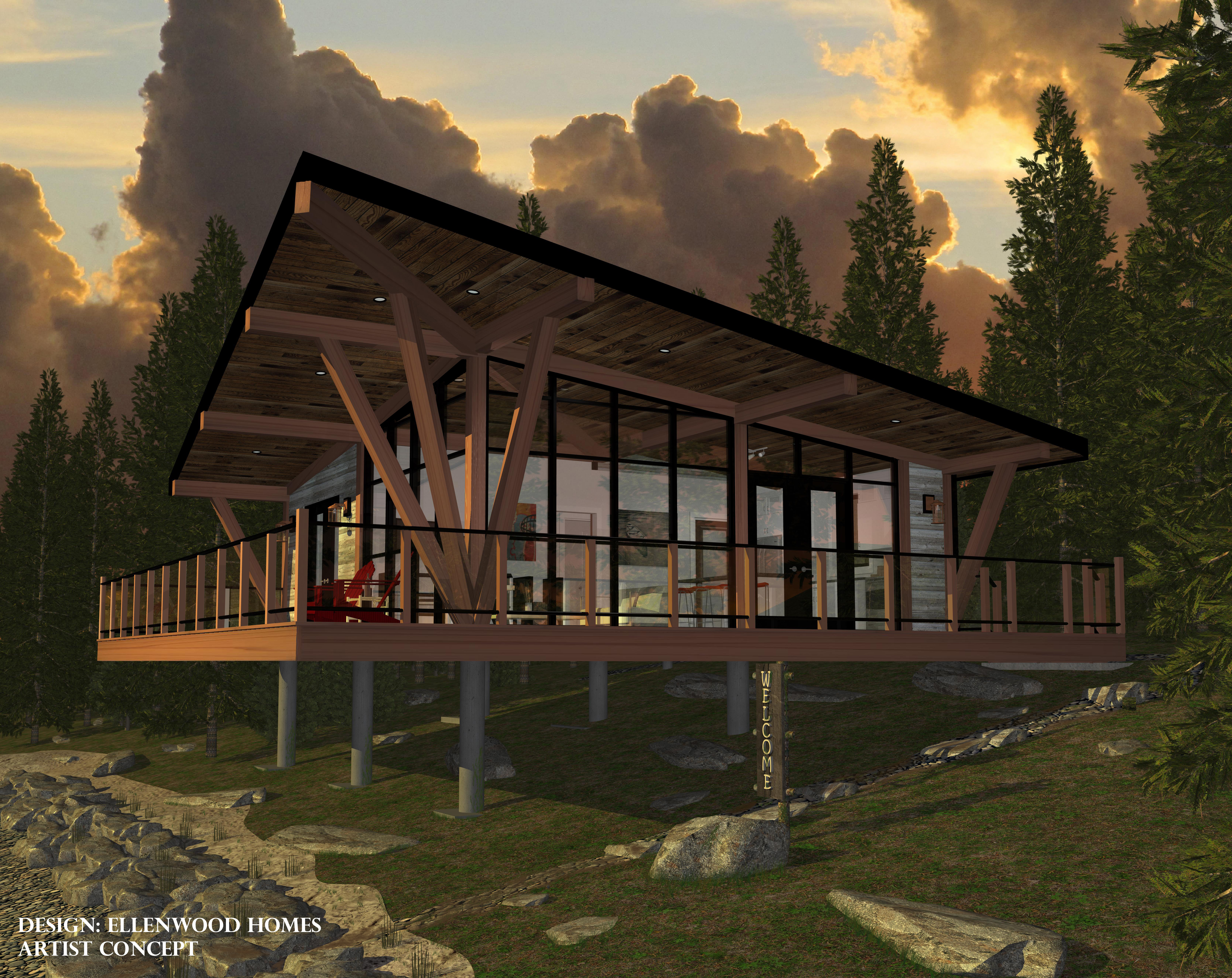 Ellenwood homes for Lakeside cabin plans