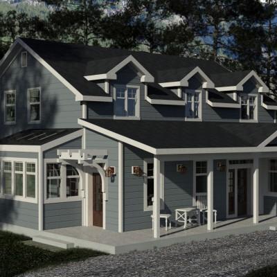 Riverside Family Home Design Plans, Floor Plans