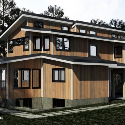 Modern Two Storey Duplex Plan Floor Plans